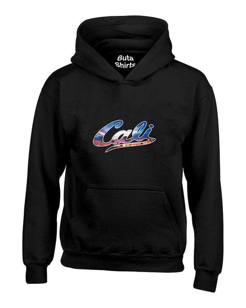 Cali Palm Trees Sunset Pattern Cali Life West Coast California Unisex Hoodie