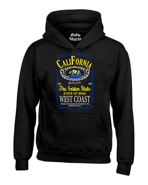California Republic Bear Golden State West Coast State of Mind Yellow Unisex Hoodie