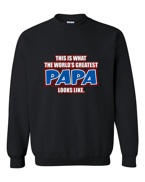 This Is What The World's Best Papa Looks Like Father's Day Crewneck Sweater