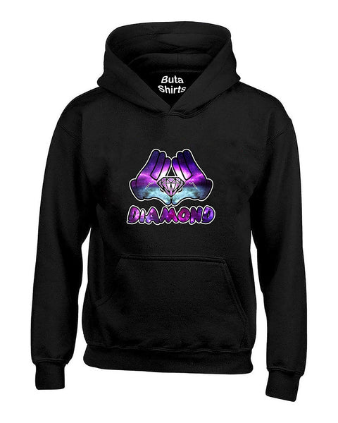 Cartoon Hands Diamond Galaxy fashion Cute Diamond Unisex Hoodie
