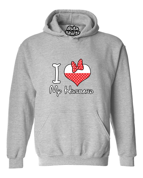 I love My Husband Heart Couples Matching loves Valentine's Day Gift Unisex Hoodie