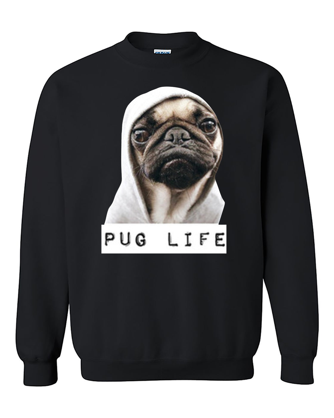 Pug Life Funny Puppy Crewneck Sweater