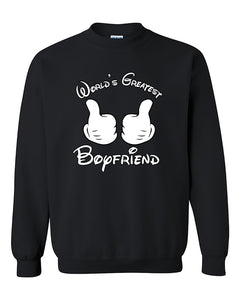 World's Greatest Boyfriend Couples Valentine's Day Gift Crewneck Sweater