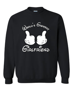 World's Greatest Girlfriend Couples Valentine's Day Gift Crewneck Sweater