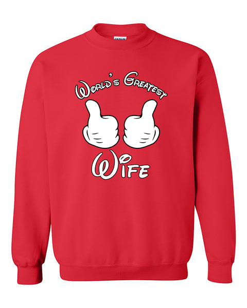 World's Greatest Wife Couples Valentine's Day Gift Crewneck Sweater