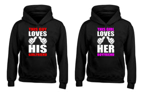 This Guy Loves His Girlfriend This Girl Loves His Boyfriend Couples Unisex Hoodies