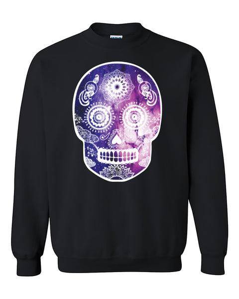 Gaxlaxy Skull Head Skull Sugar Galaxy head Fashion Crewneck Sweater