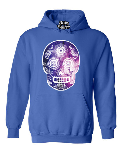 Gaxlaxy Skull Head Skull Sugar Galaxy head Fashion Unisex Hoodie
