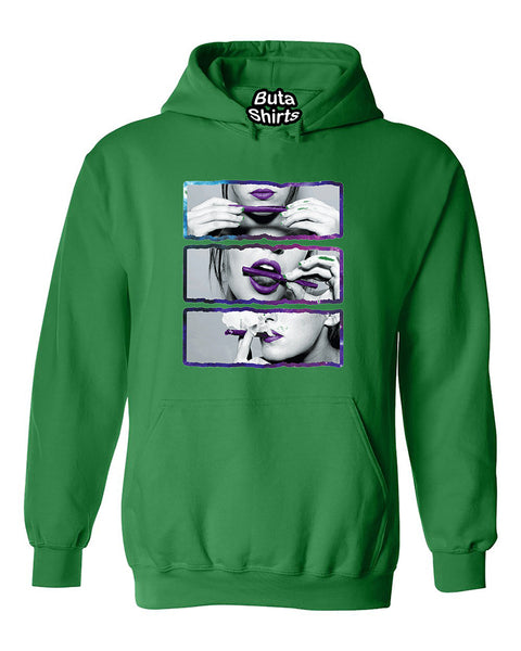 Blunt Roll Galaxy Lips Joint 420 Joint Weed Smoker Shirts Unisex Hoodie