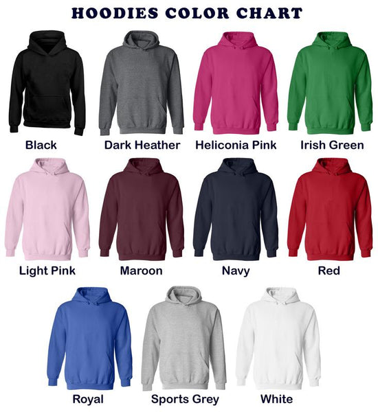 Buta Clothing Hoodies Color Chart