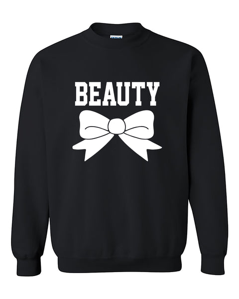 Beauty Couples GYM Workouts Valentine's Day Gift Crewneck Sweater