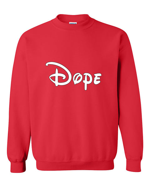 Disney Writing Dope Dopes Crewneck Sweater