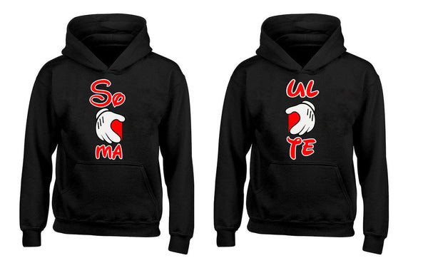Cartoon Hands heart Soul-Mates Couples Unisex Hoodies