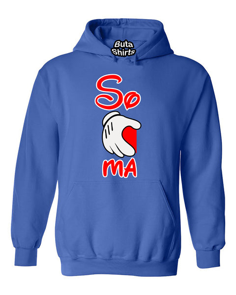 Cartoon Hands Soul-Mates Couples Valentine's Day Gift Unisex Hoodie
