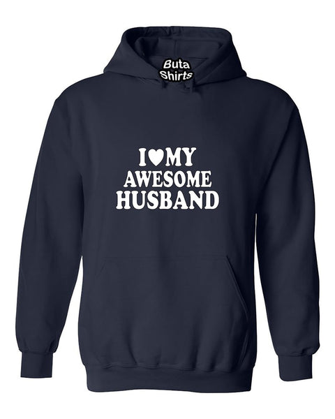 I Love My Awesome Husband Couples Valentine's Day Gift Unisex Hoodie