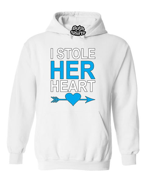 I Stole Her Heart Couples Valentine's Day Gift Unisex Hoodie