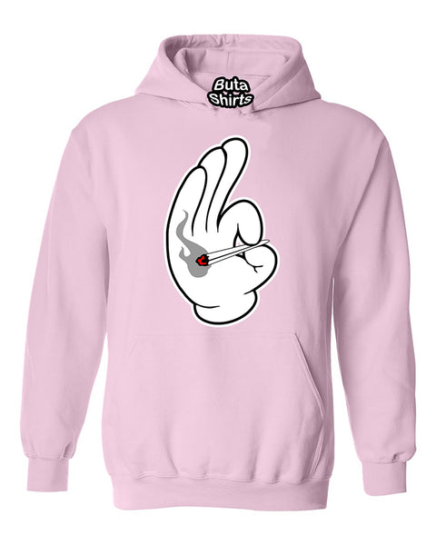 Cartoon Hands Joint Smoking 420 Weed Marijuana smokers Unisex Hoodie