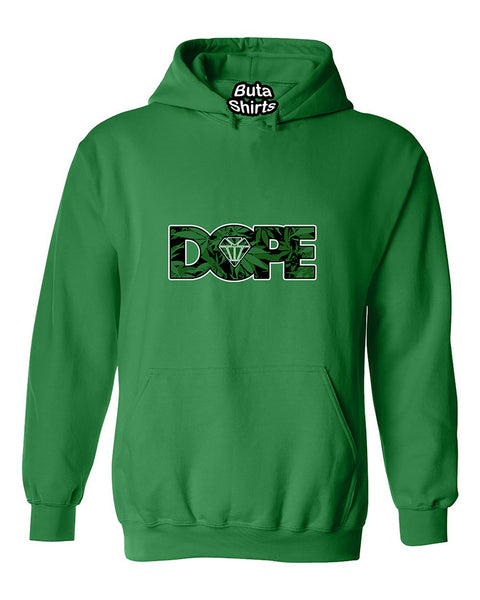 Dope Diamond Weed Pattern Marijuana Smoking Dopes Unisex Hoodie