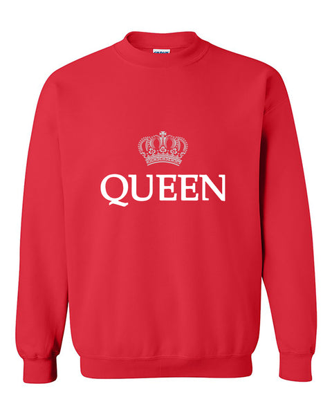Queen Crown Couples Valentine's Day Gift Crewneck Sweater
