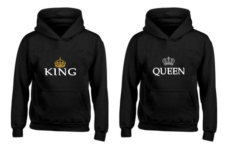 King and Queen Crown Couples Unisex Hoodies