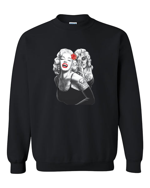 Marilyn Monroe Smile Now Cry Later  Crewneck Sweater