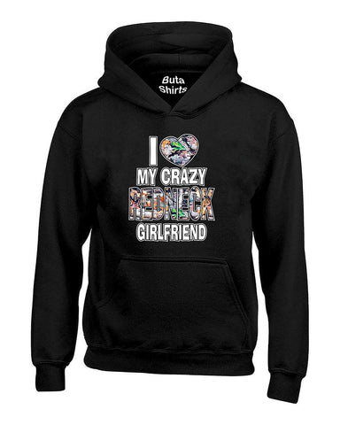 I Love My Crazy Redneck Girlfriend Couples Valentine's Day Gift Unisex Hoodie
