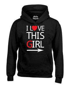 I Love This Girl Couples Matching Valentine's Day Gift Unisex Hoodie
