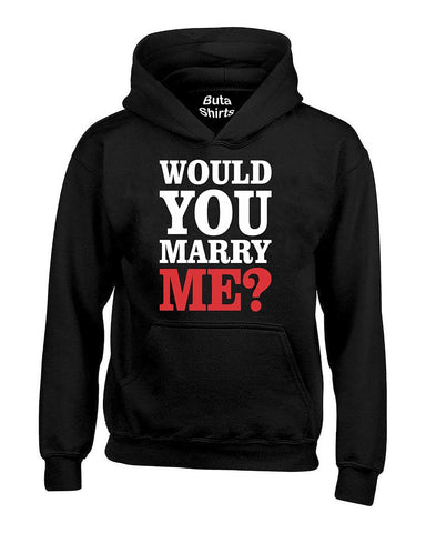 Would You Marry Me? Couples Matching Valentine's Day Gift Unisex Hoodie