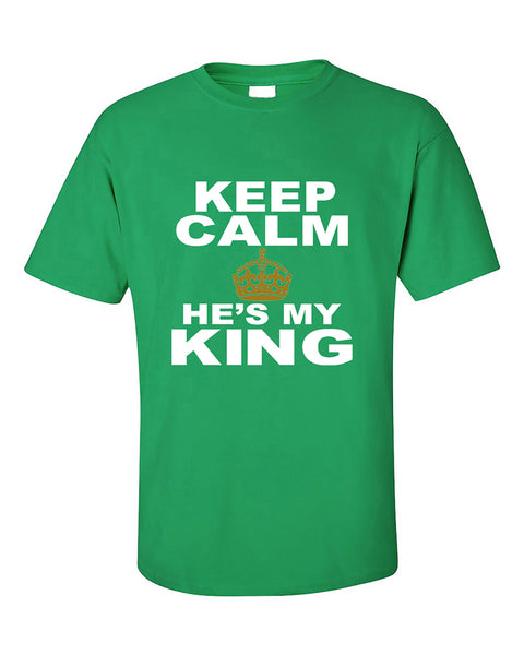 keep-calm-hes-my-king-couples-matching-valentines-day-gift-couples-t-shirt
