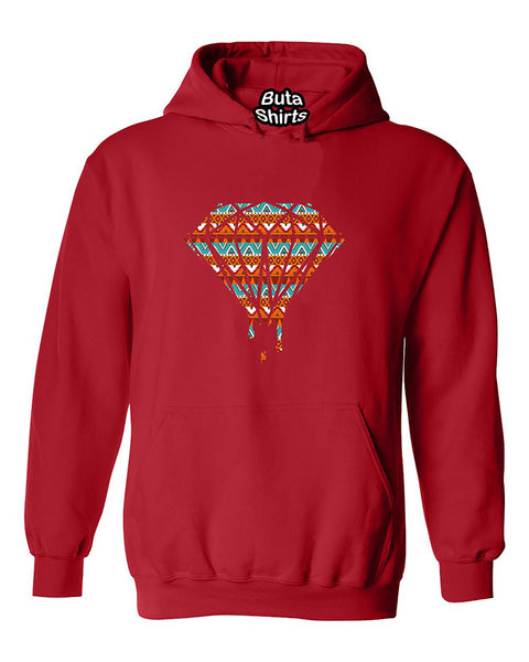Bleeding Dripping Diamond American Indian Flag Pattern Fashion Unisex Hoodie