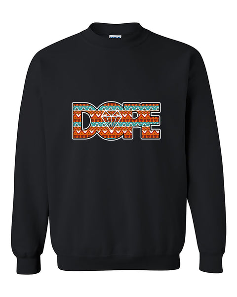 Indian Dope Diamond Indian Tribal Dope Crewneck Sweater
