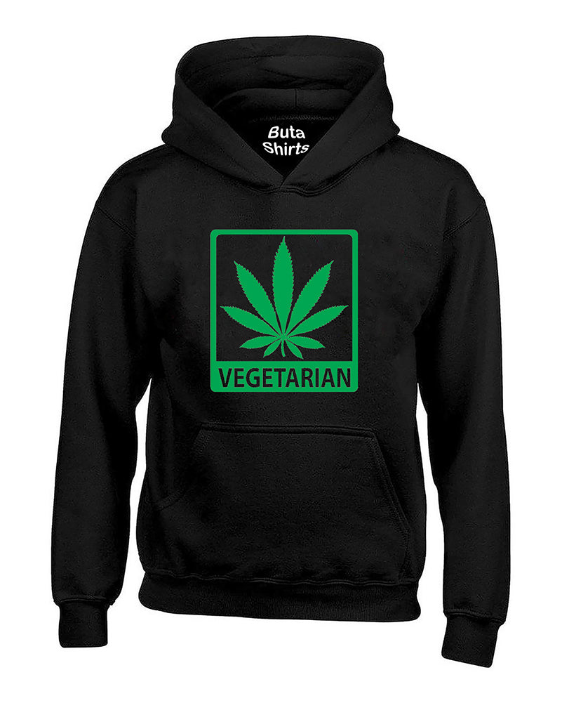 Vegetarian Marijuana Leaf Pot Leaf 420 Weed Smoking Unisex Hoodie