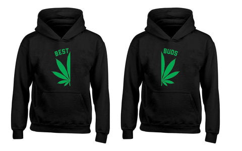 Best Buds Pot Leaf Matching Weed Smokers Couples Unisex Hoodies