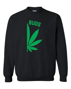 Best Buds Pot Leaf Right Couples Matching Smoking Couples Crewneck Sweater