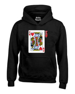 King Playing Cards Couple Matching Valentine's Day Gift Unisex Hoodie