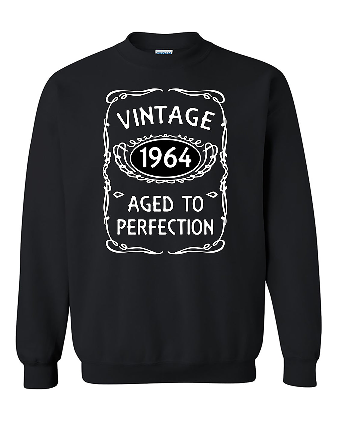 Vintage 1964 Aged To Perfetion Birthday Party Cute Crewneck Sweater