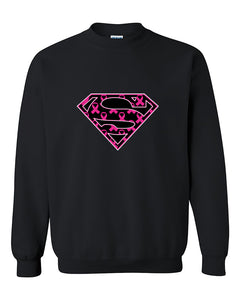 Super Strong Breast Cancer Awareness Crewneck Sweater
