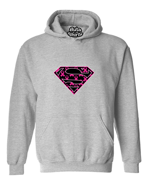 Super Strong Breast Cancer Awarenesss Unisex Hoodie