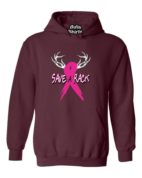 Save a Rack Breast Cancer Awarenesss Unisex Hoodie