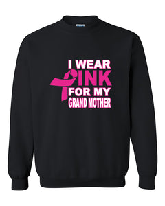 I Wear Pink for My Grandma Breast Cancer Awareness Crewneck Sweater