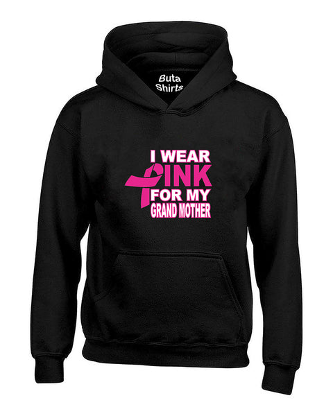 I Wear Pink for My Grandma Breast Cancer Awarenesss Unisex Hoodie
