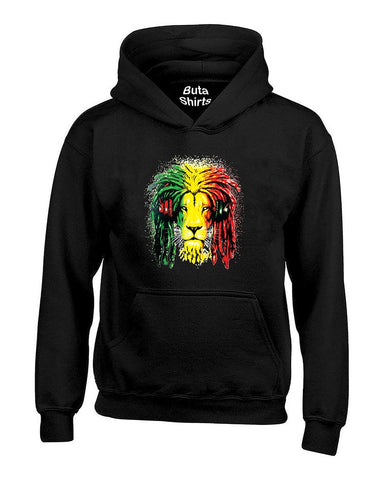 Lion Rasta Hair Bob Marley 420 Weed Smoking Marijauana Smokers Unisex Hoodie