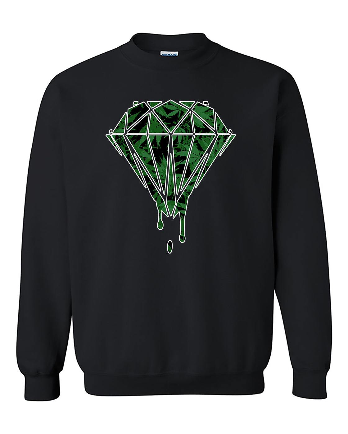 Bleeding Dripping Weed Diamond Marijuana smokings Crewneck Sweater