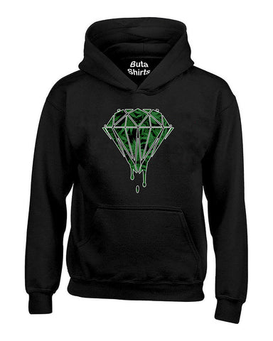 Bleeding Dripping Weed Diamond Marijuana smokings Unisex Hoodie