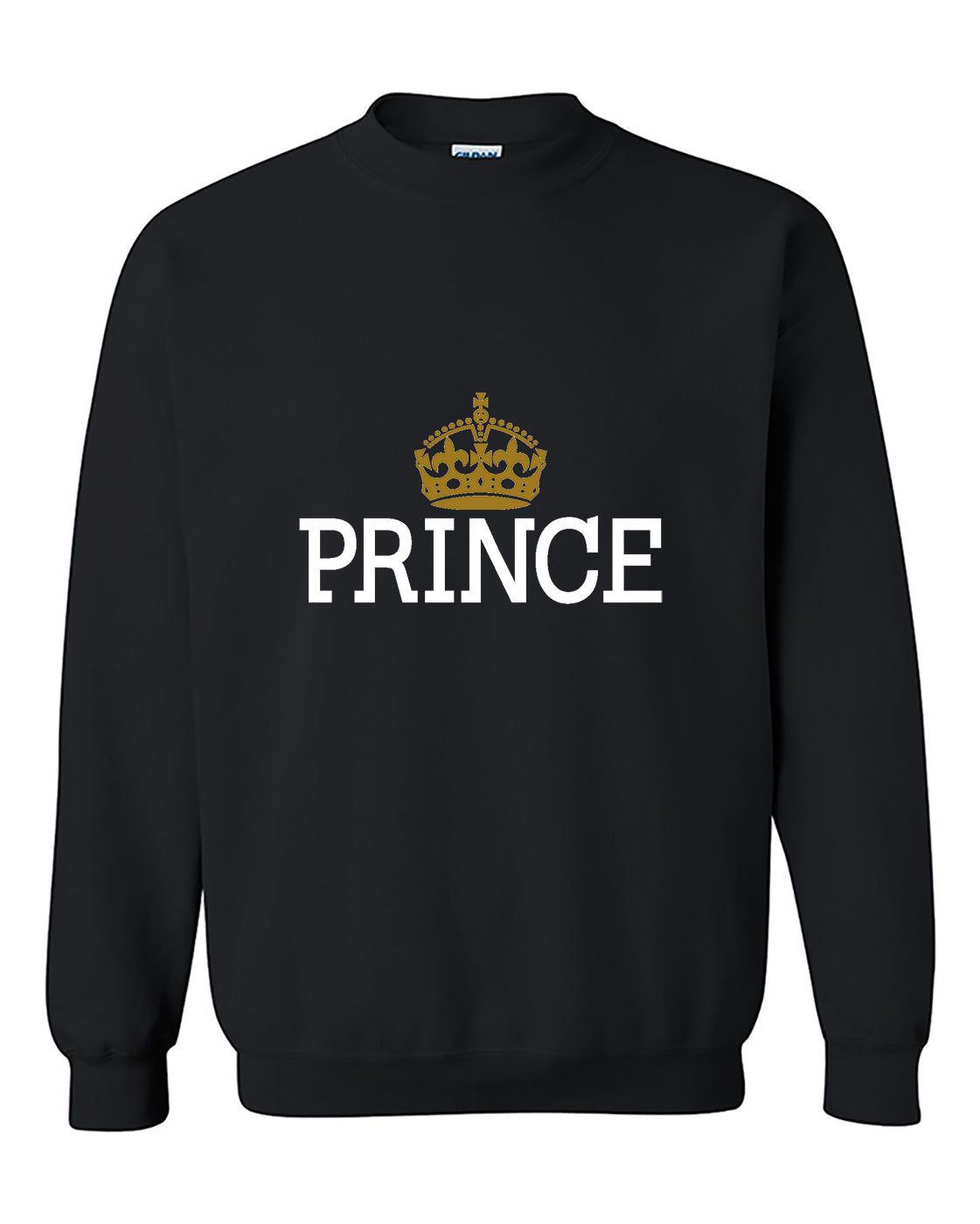 Prince Crown Couples Matching s Valentine's Day Gift Crewneck Sweater