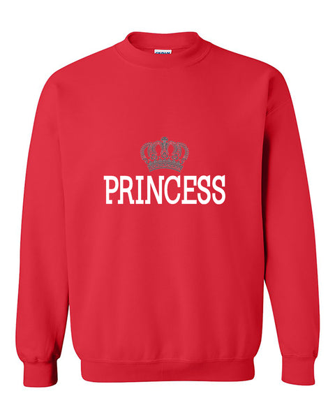 Princess Crown Couples Matching s Valentine's Day Gift Crewneck Sweater