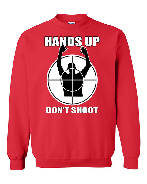 Hands Up Dont's Shoot Sniper Funny Crewneck Sweater