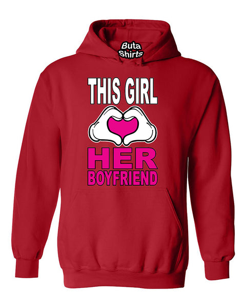 This Girl Loves His Girlfriend Couples Valentine's Day Gift Unisex Hoodie