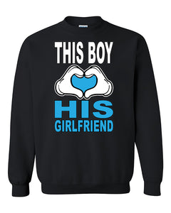 This Boy Loves His Girlfriend Couples Valentine's Day Gift Crewneck Sweater