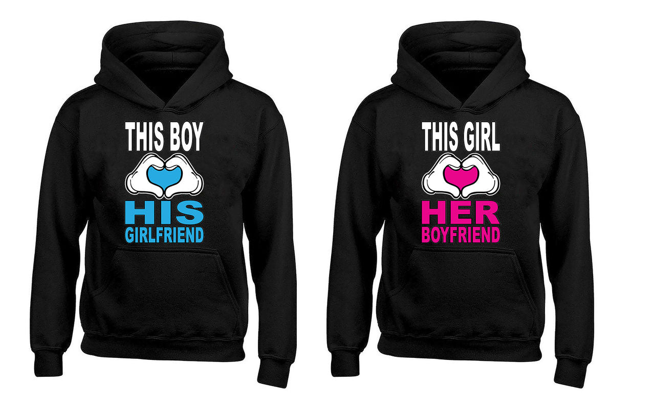 This Boy Loves His Girlfriend - This Girl Loves Her Boyfriend Couples Unisex Hoodies